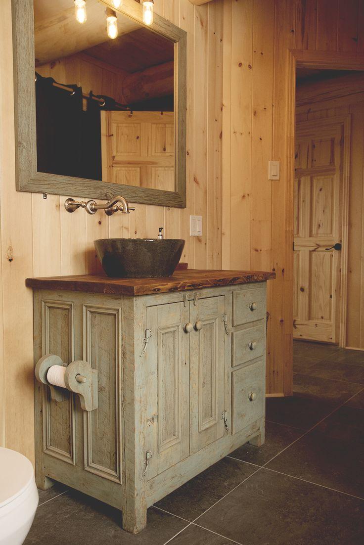 Id e d coration salle de bain meubles lavabo en bois de for Grange du meuble