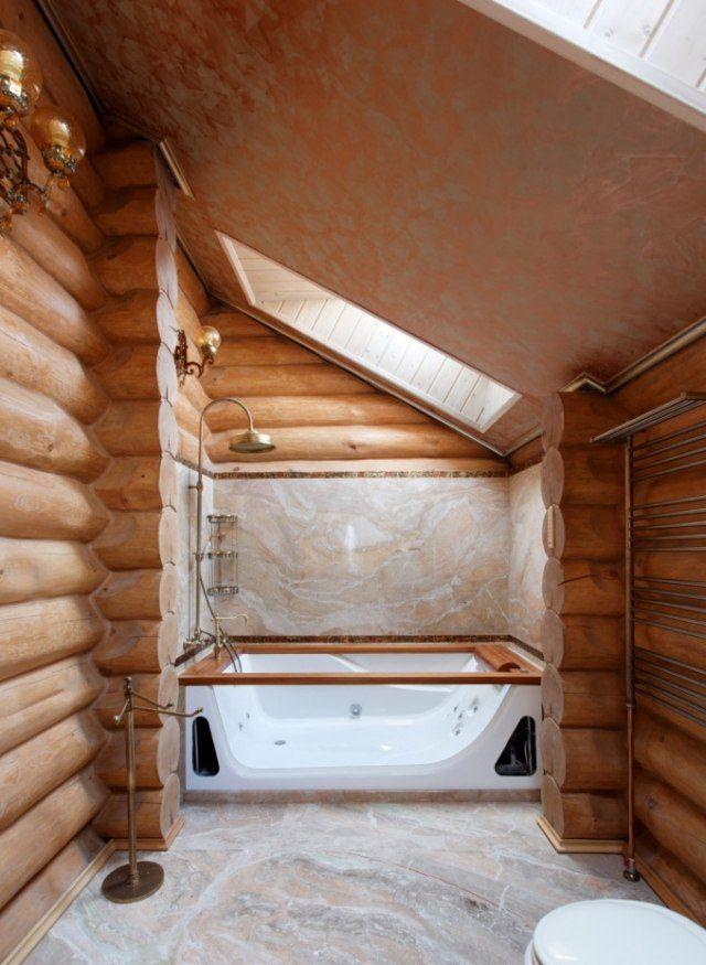 Idée décoration Salle de bain Salle de bain bois rev u00eatement de sol et mural imitation bois  # Revetement Mural Imitation Bois