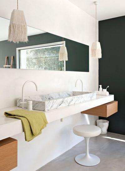 idée décoration salle de bain - salle de bains ouverte sur la ... - Salle De Bain Ouverte Dans Chambre