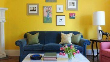 D co salon moderne canap d 39 angle en cuir couleur - Choisir couleur peinture salon ...