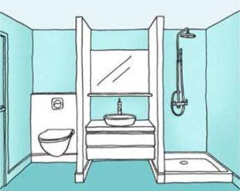 Id e d coration salle de bain peinture vert c ladon for Cout travaux salle de bain