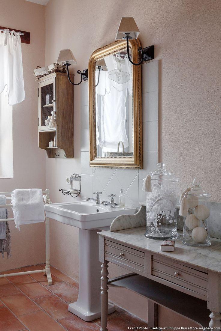 Id e d coration salle de bain salle de bains shabby chic - Salle de bain shabby ...