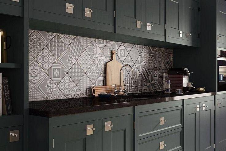 Id e relooking cuisine cr dence cuisine carreaux de ciment patchwork et art - Tendance credence cuisine ...