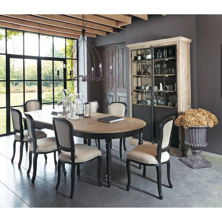 beautiful salle manger u table de salle manger en chne l cm valencay maisons du monde with. Black Bedroom Furniture Sets. Home Design Ideas
