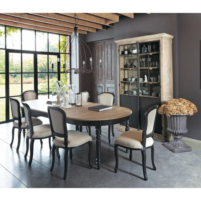 salle manger table de salle manger en ch ne l 125 cm valencay maisons du monde. Black Bedroom Furniture Sets. Home Design Ideas