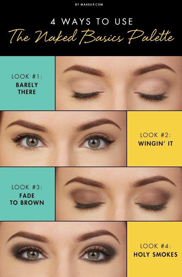 Tendance Maquillage Yeux 2017  2018  4 faons dutiliser la palette Naked Basics  ListSpirit