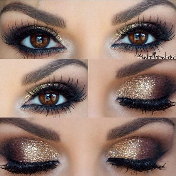 tendance maquillage yeux 2017 2018 gold smokey eye leading inspiration. Black Bedroom Furniture Sets. Home Design Ideas