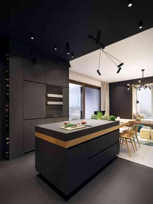 Id e relooking cuisine l 39 lot central est plac c t - Ilot cuisine table a manger ...