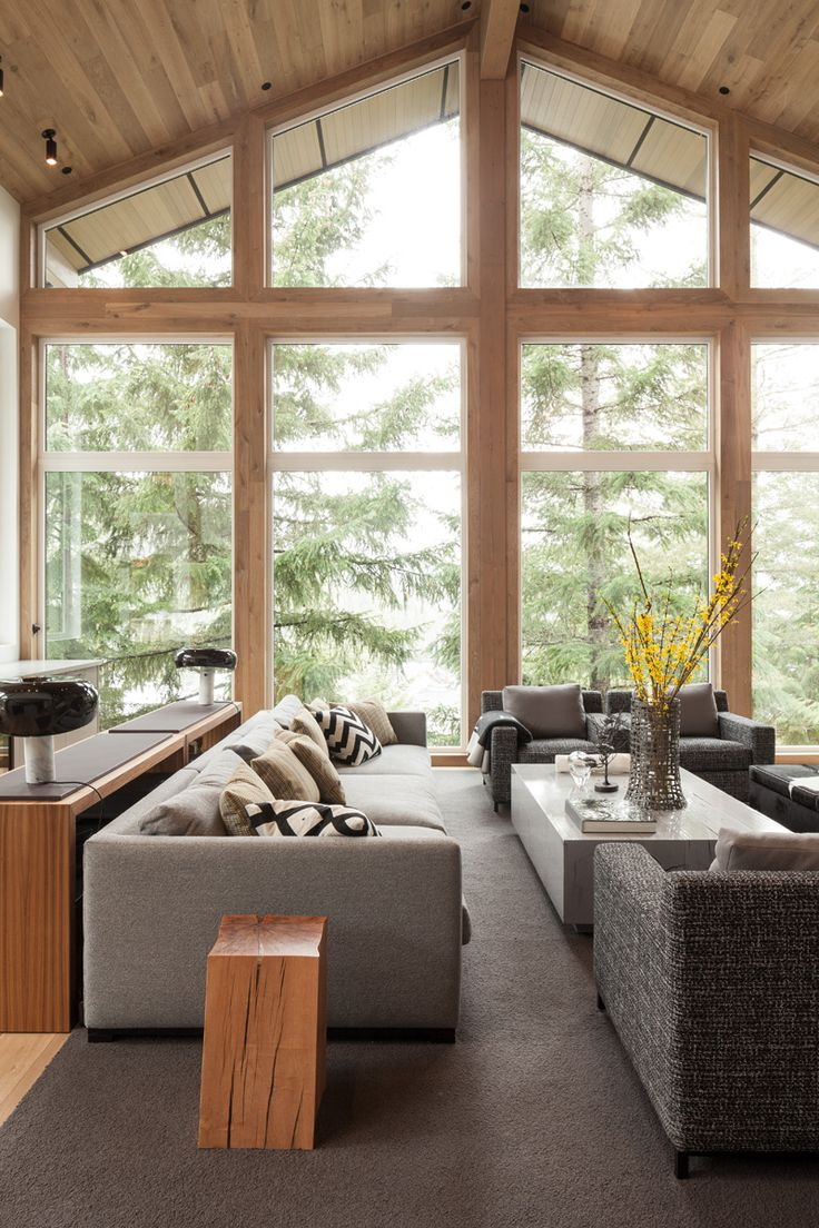 Dco Salon  Amnagement intrieur moderne dune maison au Canada  ListSpiritcom  Leading