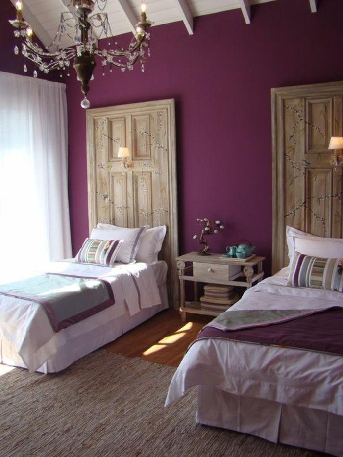 D co salon couleur prune pour les murs dans la chambre a - Deco chambre prune ...