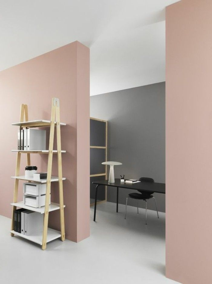 d co salon peinture mur salon de couleur rose p le sol beige dans le salon listspirit. Black Bedroom Furniture Sets. Home Design Ideas
