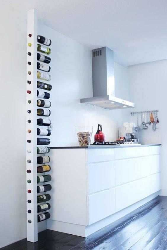 Déco Salon - Range-Bouteilles Diy Vertical Www.Homelisty.Com