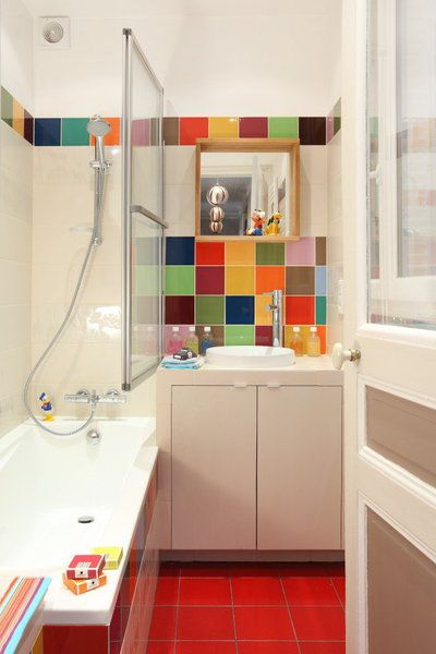idée décoration salle de bain - aménager une salle de bains ... - Salle De Bain Colore