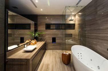 Idée Décoration Salle De Bain Avec Son Ambiance Déco Moderne Et - Idee salle de bain bois