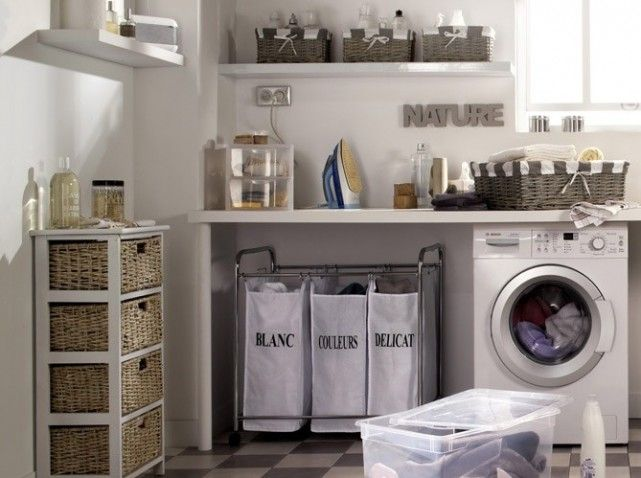 Idée décoration Salle de bain - buanderie charme salle de bains ...