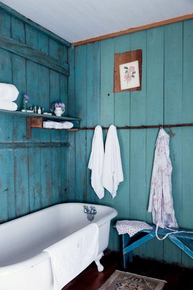 idée décoration salle de bain - décoration salle de bains vintage ... - Salle De Bain Vintage