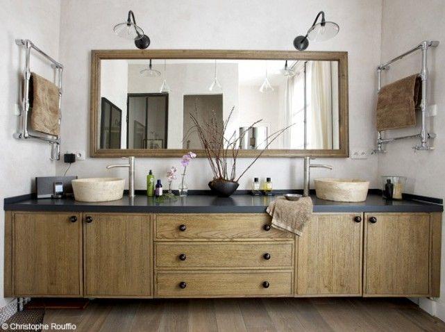 Idée décoration Salle de bain - Meuble salle de bains bois ...