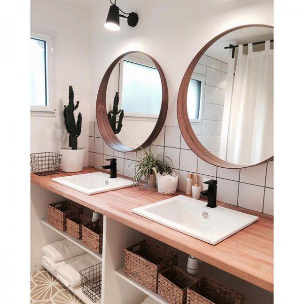 Idée décoration Salle de bain - Salle de bain au style scandinave ...
