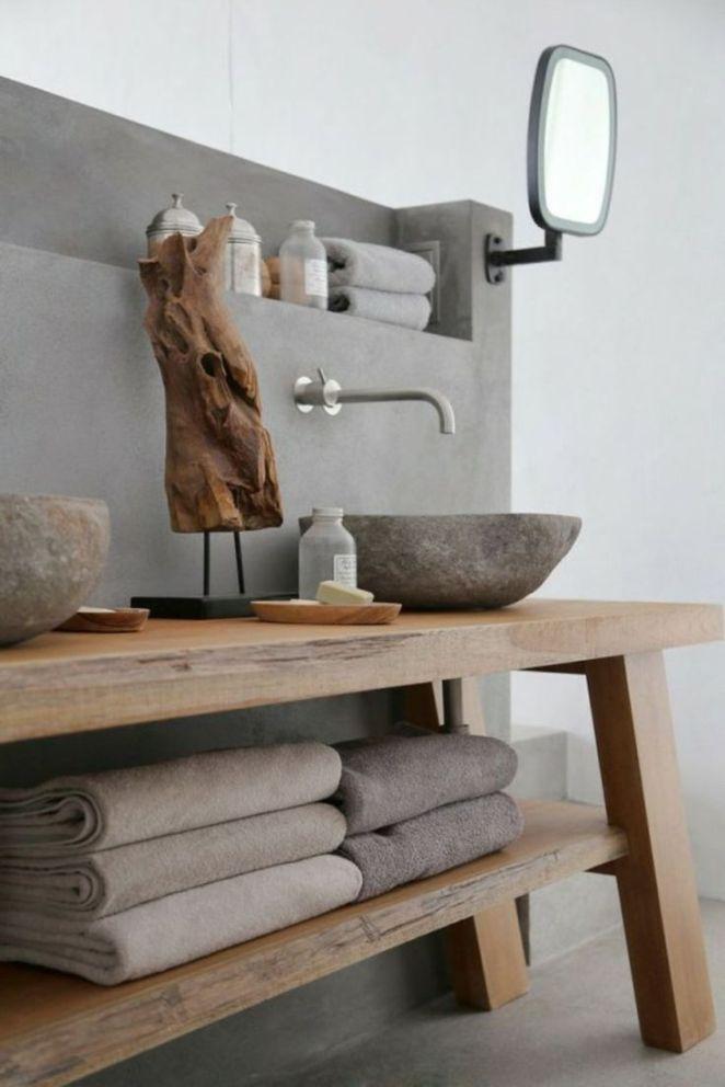 idée décoration salle de bain - salle de bain en béton ciré pour ... - Salle De Bain En Dur