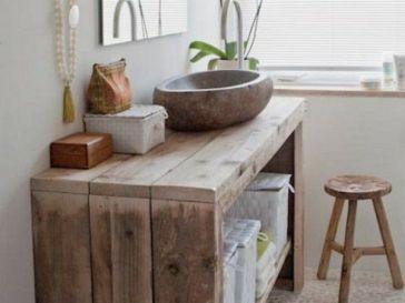 Id e d coration salle de bain d co salle de bain bois for Idee deco salle de bain simple