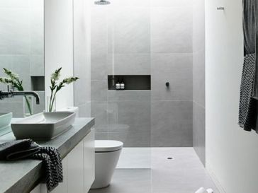 Id e d coration salle de bain the block 2014 bathrooms for Idee salle de bain grise