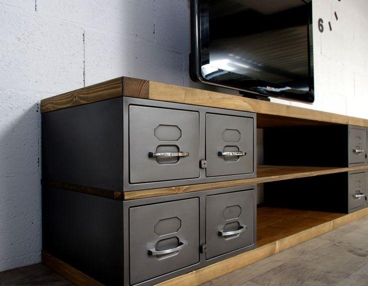 relooking et d coration 2017 2018 meuble tv en acier. Black Bedroom Furniture Sets. Home Design Ideas