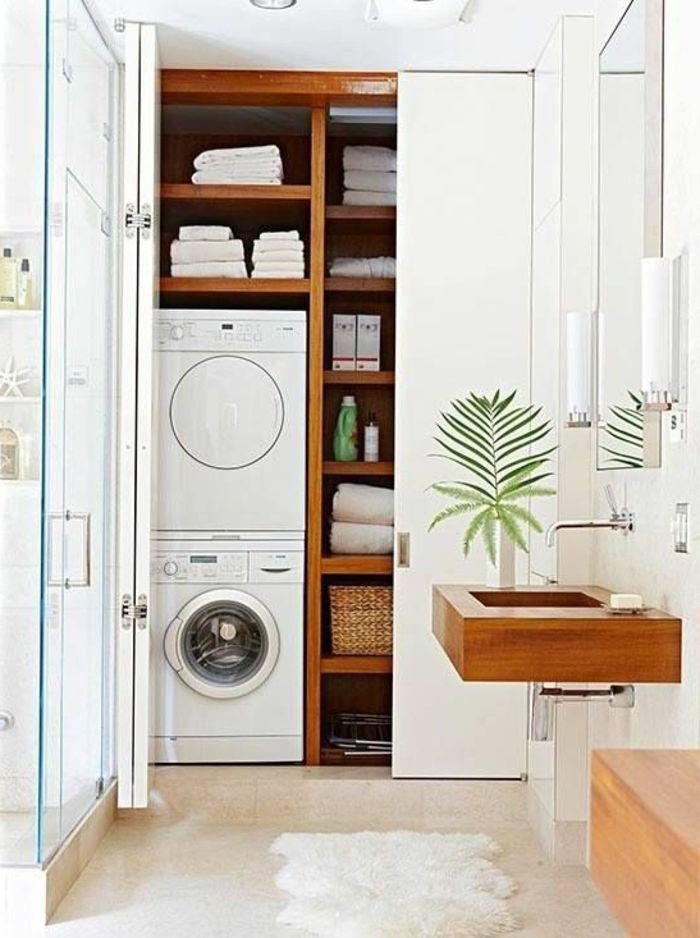 idée décoration salle de bain - aménager une petite salle de bain ... - Salle De Bain Gain De Place