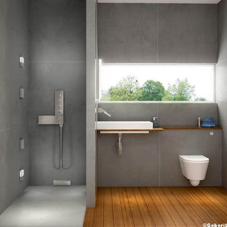 id e d coration salle de bain cot carrelage dans la douche l 39 italienne c t parquet lavabo. Black Bedroom Furniture Sets. Home Design Ideas
