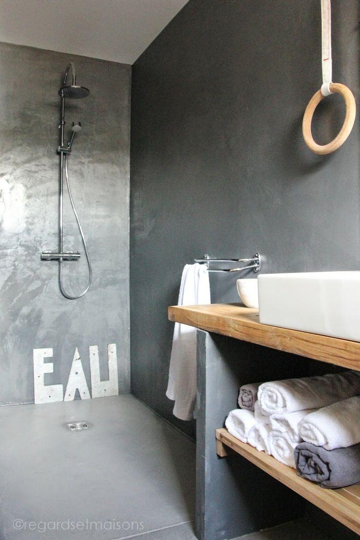 id e d coration salle de bain salle de bain bois et. Black Bedroom Furniture Sets. Home Design Ideas
