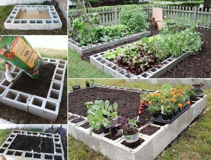 id e relooking cuisine bloc b ton pour cr er un potager dans dans le jardin moderne. Black Bedroom Furniture Sets. Home Design Ideas