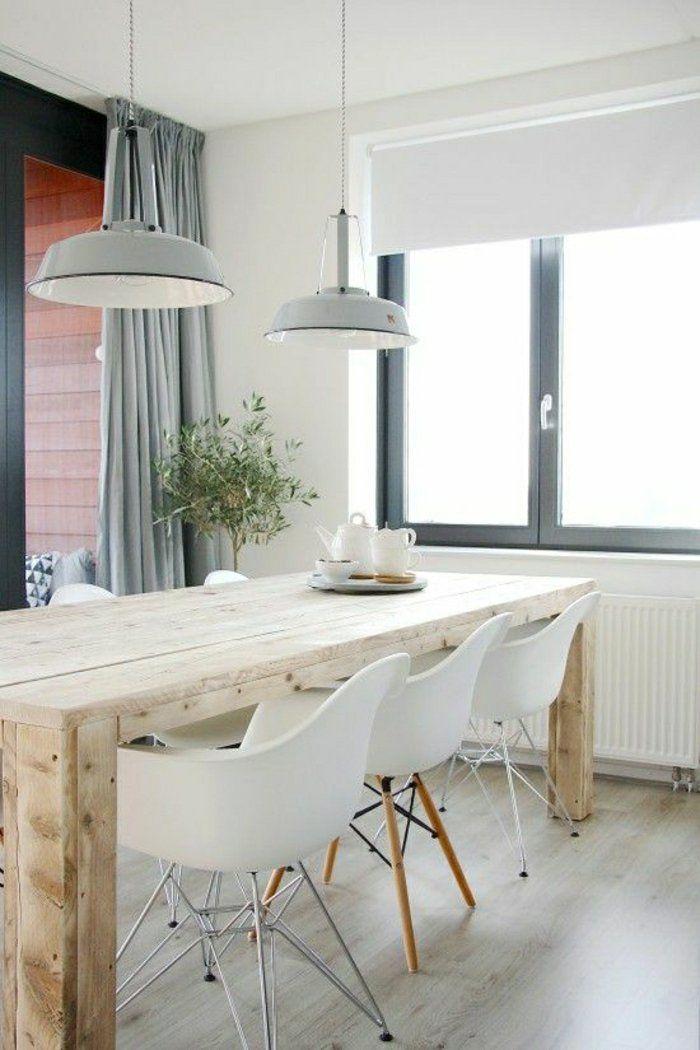 Idée Relooking Cuisine - Table De Cuisine, Modèle En Bois, Lustre