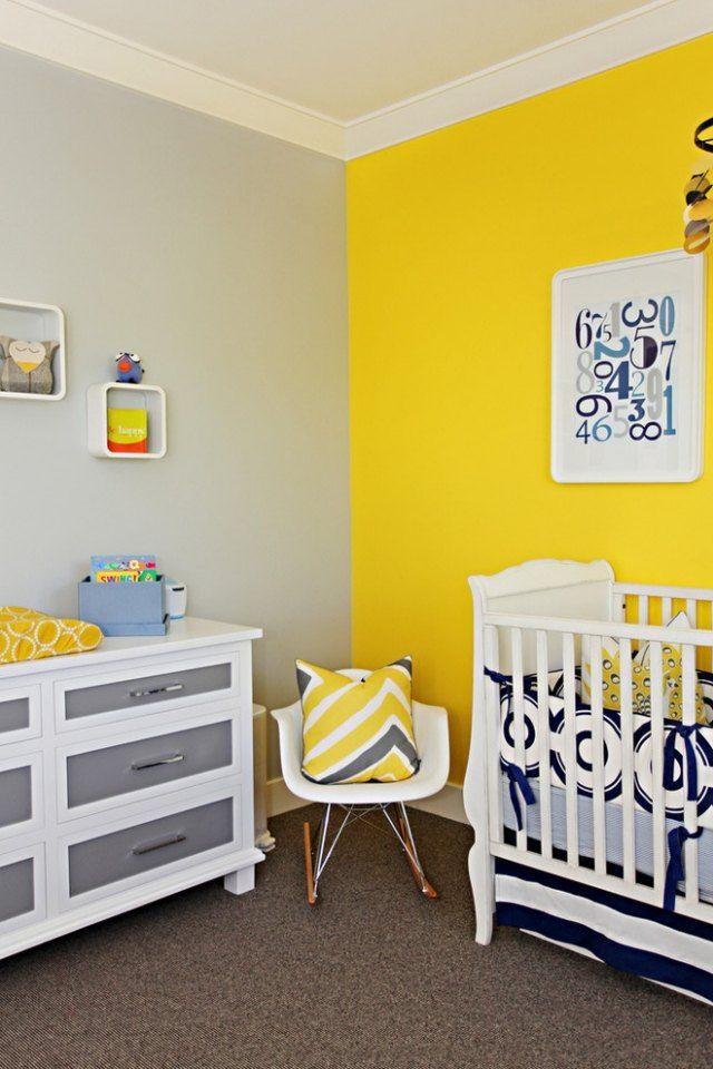 relooking et d coration 2017 2018 peinture chambre enfant jaune gris et blanc. Black Bedroom Furniture Sets. Home Design Ideas
