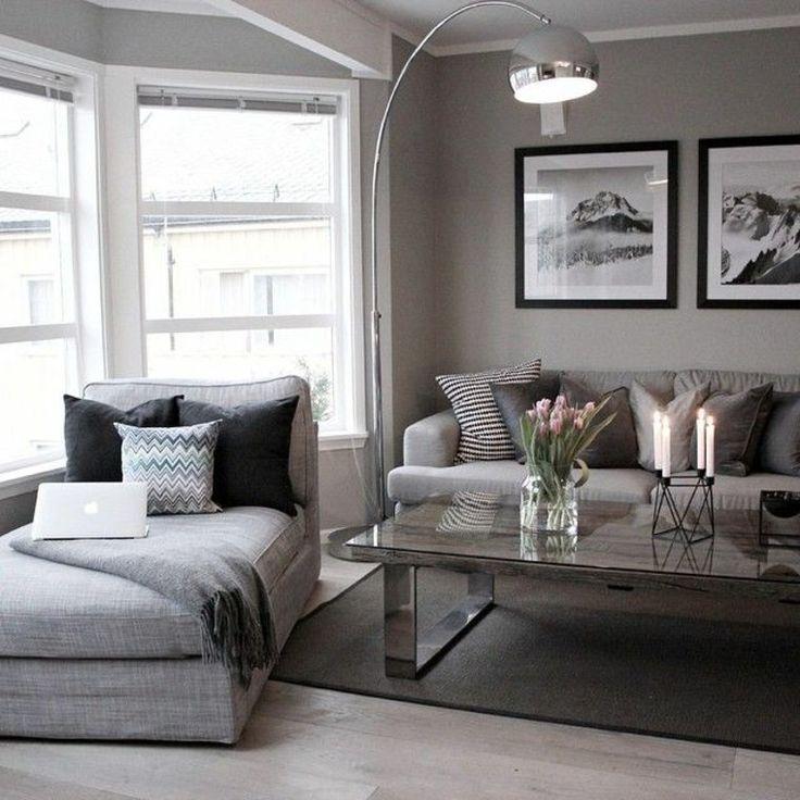 Déco Salon - déco de salon en gris moderne... - ListSpirit.com ...