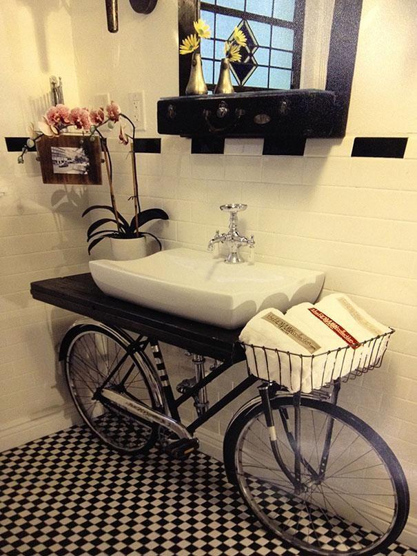 Idée décoration Salle de bain - 23 idees originales de recyclage ...