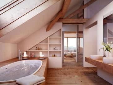 Id e d coration salle de bain la salle de bains de cet for Salle de bain you