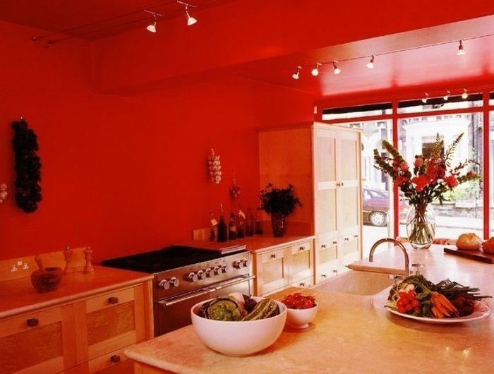 id e relooking cuisine modele de cuisine moderne couleur peinture cuisine rouge meubles. Black Bedroom Furniture Sets. Home Design Ideas