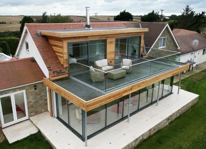 Idée relooking cuisine - veranda ultra moderne, veranda toit plat ...