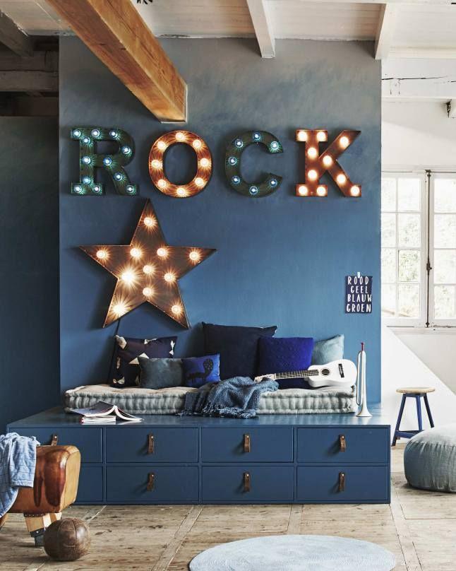 Relooking et décoration 2017 / 2018 - Chambre d\'enfant en bleu ...