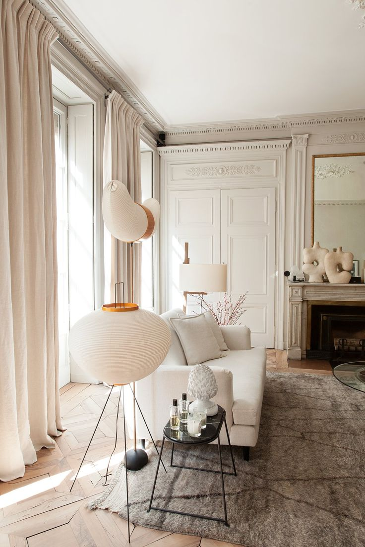 salle manger salon maison hand luminaire noguchi tapis berb re table noguchi pierre emmanuel. Black Bedroom Furniture Sets. Home Design Ideas