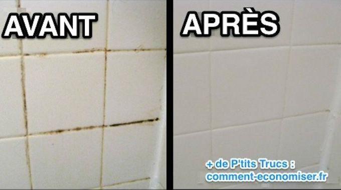 idée décoration salle de bain - comment nettoyer les joints de ... - Nettoyer Joint Carrelage Salle De Bain