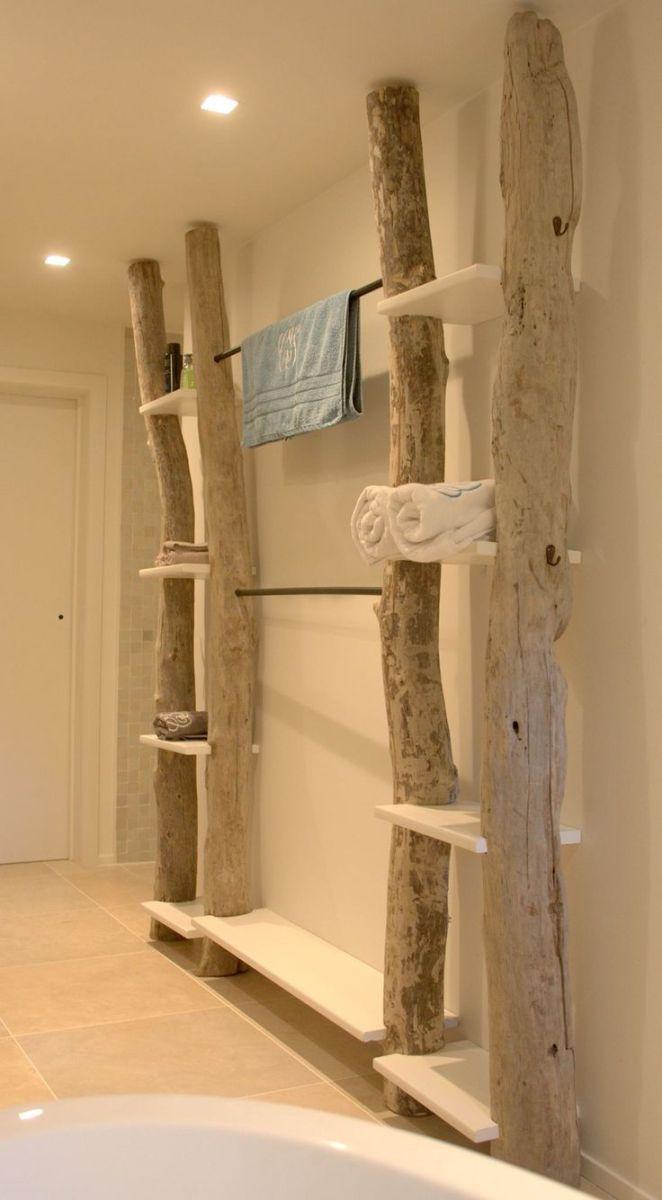 Idée décoration Salle de bain - Etagère bois flotté ...
