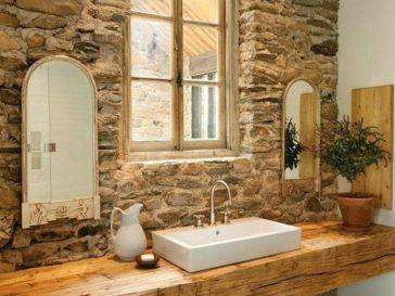 Id e d coration salle de bain plan vasque faire soi Mur salle de bain pas cher