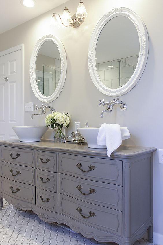 Id e d coration salle de bain le style vintage est plus Idee deco salle de bain simple