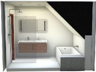 Id e d coration salle de bain salle de bains sous for Deco salle de bain sous comble
