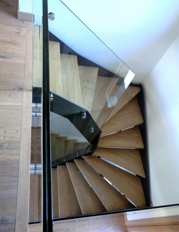 id e relooking cuisine escalier loft avec limons acier thermo laqu garde corps tout verre et. Black Bedroom Furniture Sets. Home Design Ideas