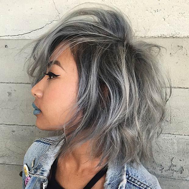 couleur gris cheveux vous aimez nous on adore with couleur gris cheveux stunning facebook with. Black Bedroom Furniture Sets. Home Design Ideas