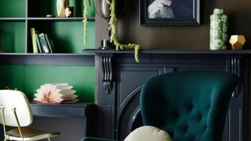 d co salon pas besoin de sortir pour vous mettre en vert couleur mur salon vert emeraude am. Black Bedroom Furniture Sets. Home Design Ideas
