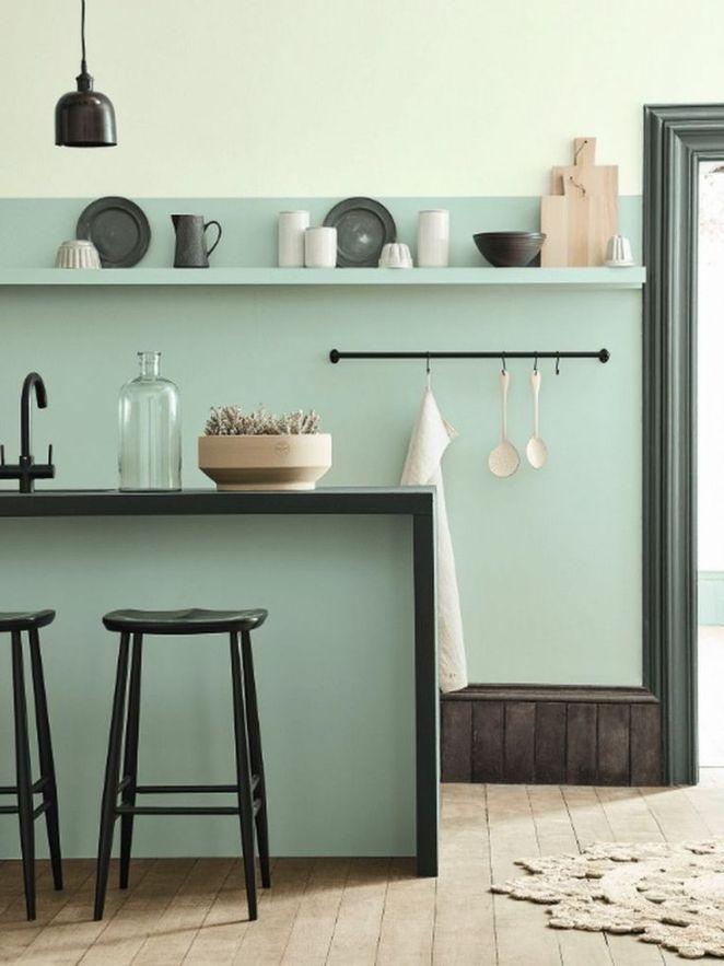 Peinture Vert De Gris Pour Cuisine: Cuisine Vert D'eau