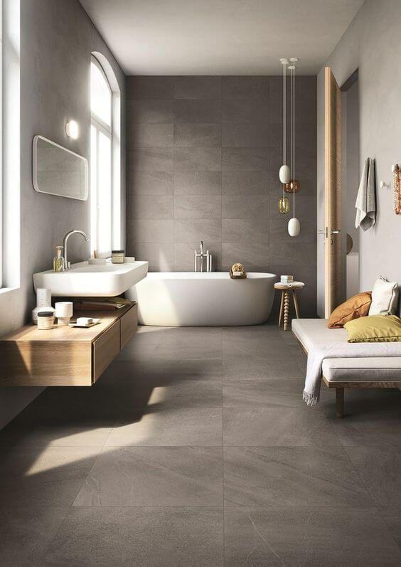 idée décoration salle de bain - salle de bain épurée et moderne ... - Salle De Bain Epuree