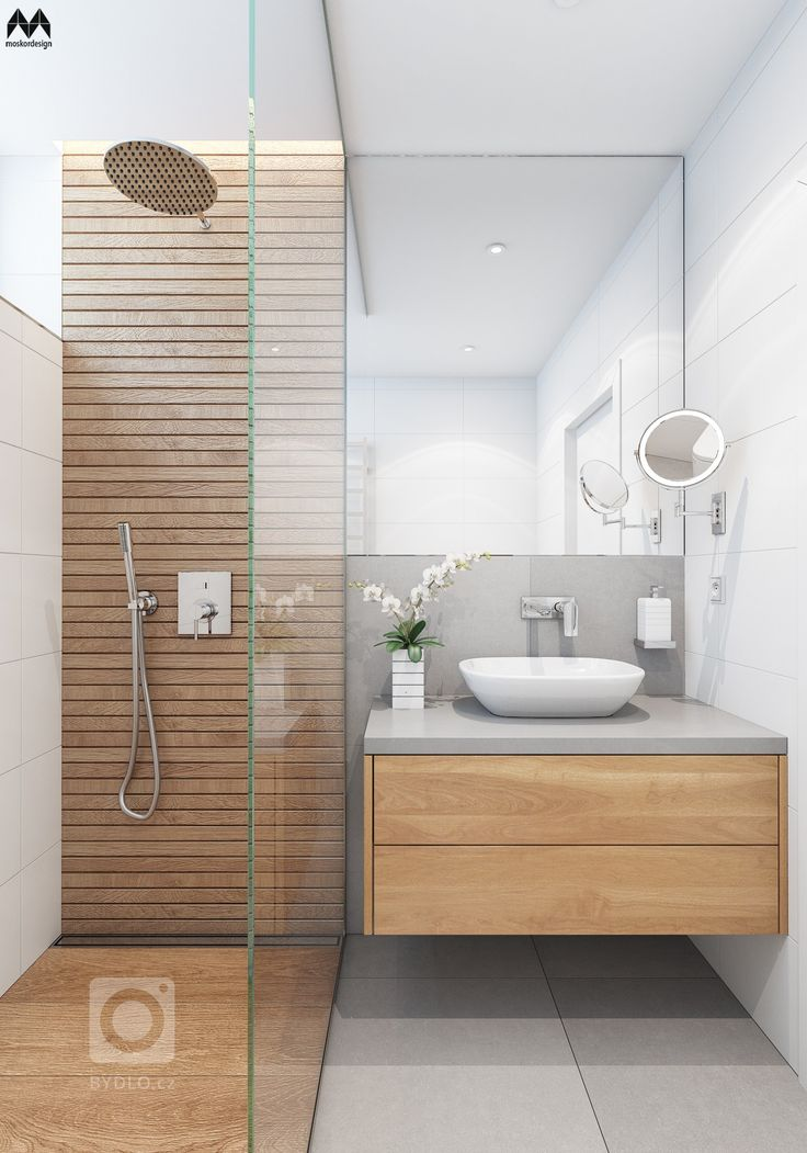 Awesome Salle De Bain Bois Et Gris Contemporary - Awesome Interior ...